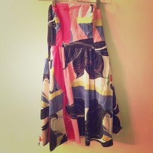 Strapless Maeve Bold Floral Dress